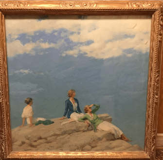 A 1919 Charles C. Curran oil painting, donated to the Economy Shop, is on display at the OP-RF Museum and will be auctioned by Toomey Gallery on June 9. | Photo provided by The Economy Shop