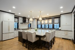 Oak Park homeowners Brian Fieser and Pam Daley worked with designer Amanda Miller to remodel their kitchen, a far cry from the tiny space they used to have in their 1890s-era home. (Mark Wright Photography)