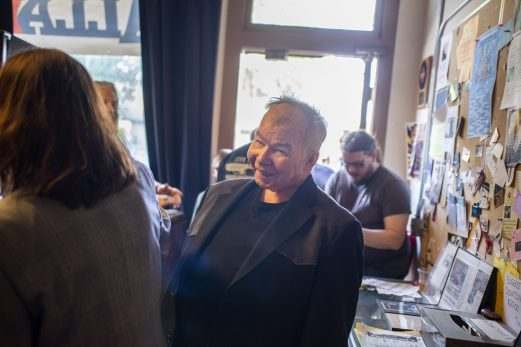 HELLO IN THERE: John Prine, award-winning songwriter, answered questions about his long music career on Thursday, June 6, during a private event at Val's halla Records in the Oak Park Arts District. | ALEXA ROGALS/Staff Photographer