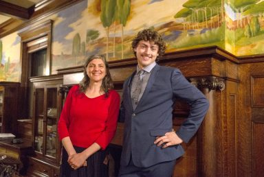 Maria Emilia Fermi and Brando Crawford purchased the Hales Mansion at 509 N. Oak Park Ave. and are transforming it from a 9,500-square-foot residence into the International Mansion of Education and Innovation. | ALEXA ROGALS/Staff Photographer
