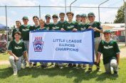 The 12U River Forest baseball team went 9-0 in postseason play to win the 12U state championship. The team moves on to the Little League Great Lakes Region Tournament in Westfield, Indiana. (Courtesy Dennis Jarnecke)