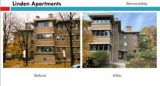 Linden Apartments | Courtesy Oak Park Historic Preservation Commission