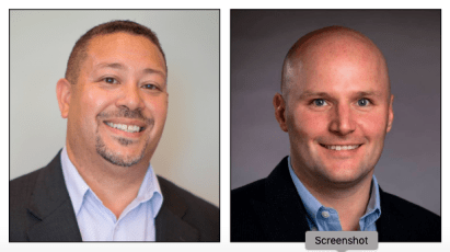 John Lawrence (left) and Zak Knebel are partnering to open a Berkshire Hathaway Home Services office at 7773 Lake St., River Forest