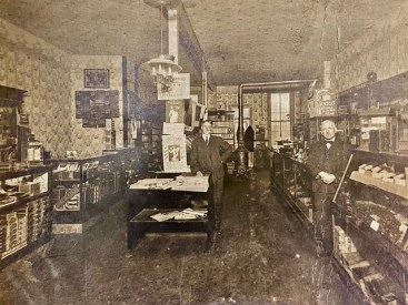 Henry Pieritz and his father Ludwig Pieritz in Pieritz Bros. in the late 1890s. Ludwig was a cabinet maker and would help his sons with the store. |Photo provided by Deborah Pieritz