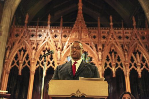 Follow through: Commissioner Richard Boykin organized a town hall at Oak Park's Grace Episcopal Church last Thursday to examine the Cook County justice system. (Photos by CHANDLER WEST/Staff Photographer)