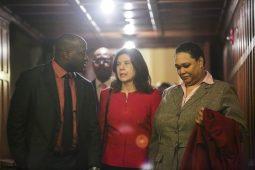 State's Attorney Anita Alvarez (center) at Grace Episcopal Church in Oak Park. (Photos by CHANDLER WEST/Staff Photographer)
