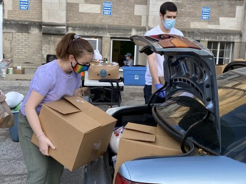 Volunteers pull their weight at Beyond Hunger.