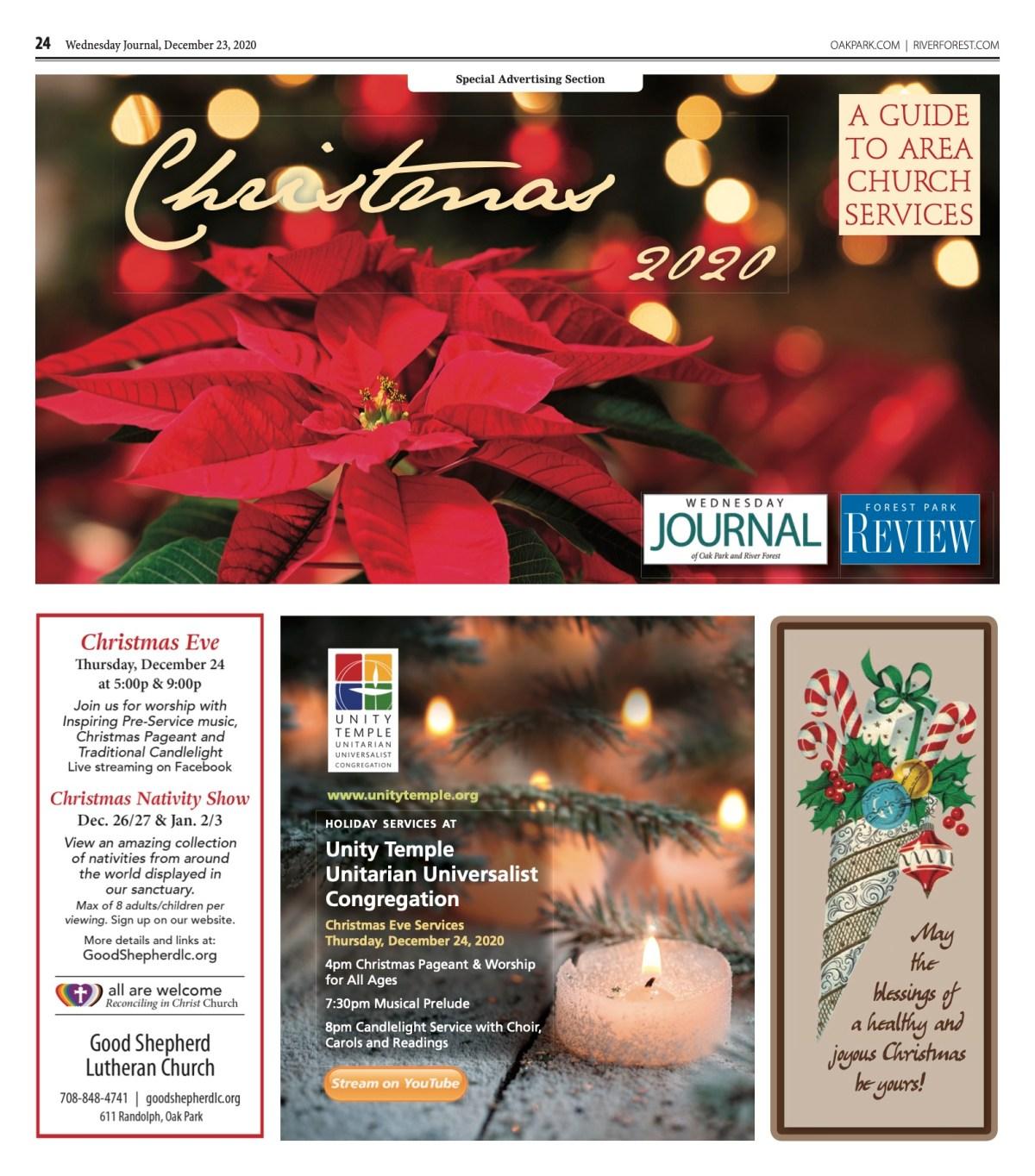 "Ucc 2021 ""Christmas Eve"" ""Order Of Worship"" Christmas Church Guide Ii Oak Park"