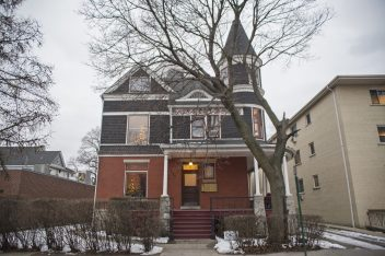 From mansion to rentals: When George Nordenholt built this grand home in 1894, it originally faced Chicago Avenue. In 1913, he re-sited the building and divided it into apartments, starting its long history as a rental property. Its new owners want to construct a two-unit addition to the rear of the building. | Alex Rogals/Staff Photographer