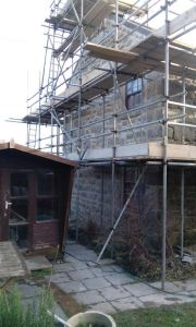 Lime pointing St Buryan Cornwall