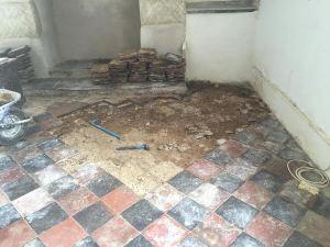 Fitting Limcrete Flooring St. Buryan Cornwall