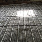 St Buryam Cornwall Under floor heating limecrete flooring