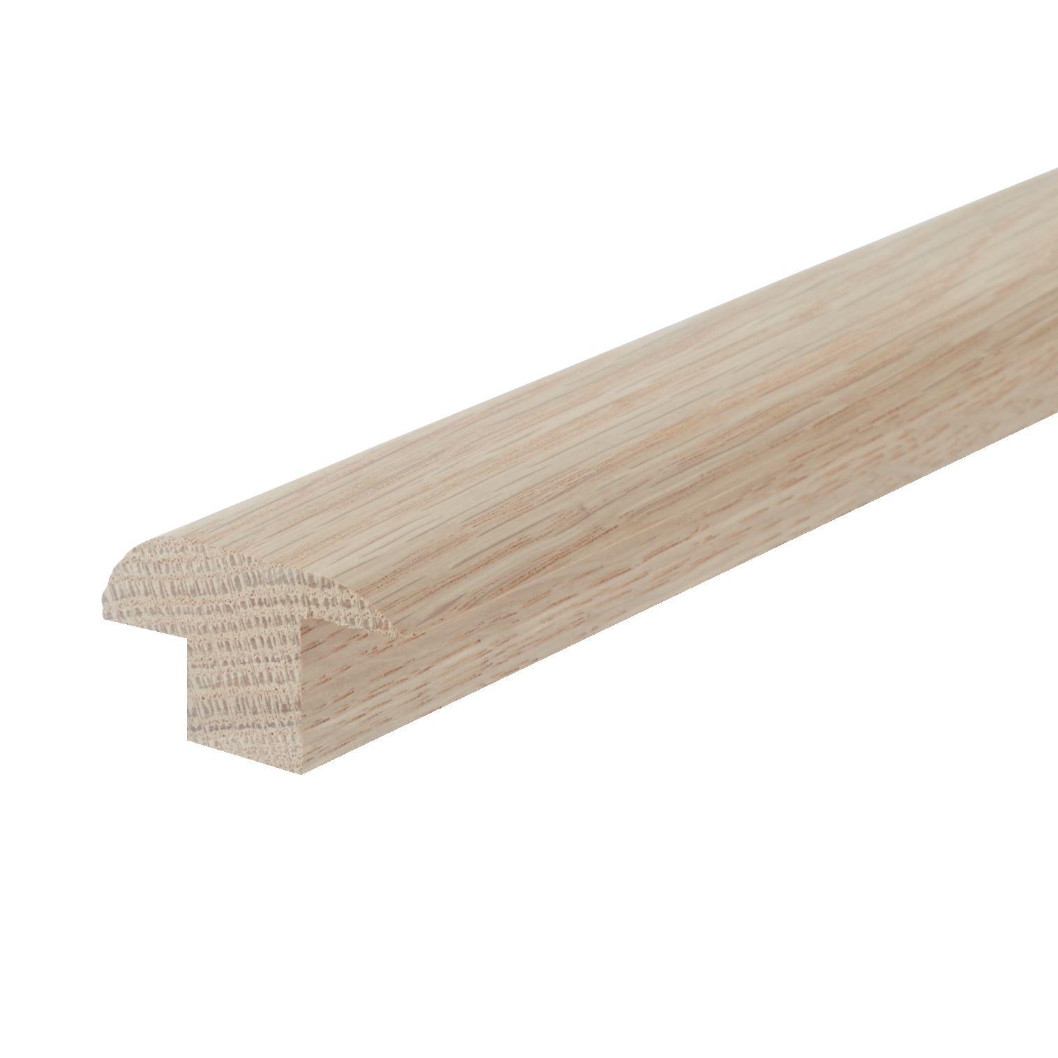 oak wood to carpet door threshold with rebate