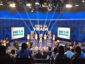 Sorteio da Mega-Sena da Virada aconteceu em SãoPaulo (Foto: Roney Domingos/G1)