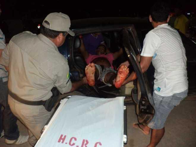 Lorivaldo chegou consciente e sangrando muito no hospital de Brasiléia, mas foi transferido para Rio Branco