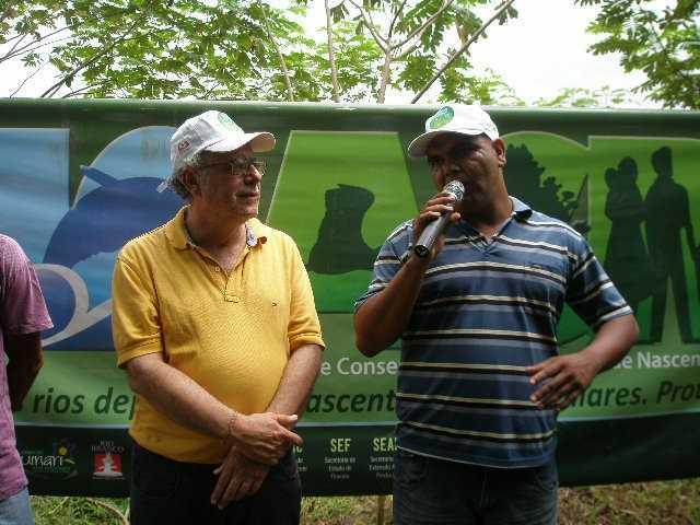 Mário JOrge, presidente da Câmara Municipal de Brasiléia (esq) e o Secretário de Meio Ambiente do Acre, Edgard de Deus - Foto: Assessoria