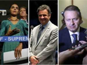 Marina Silva, Aécio Neves e Eduardo Campos, possíveis candidatos à Presidência em 2014 O Globo / Montagem