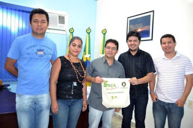 Representantes do IFAC foram recebidos no gabinete pelo prefeito André Hassem - Fotos: Wesley Cardoso