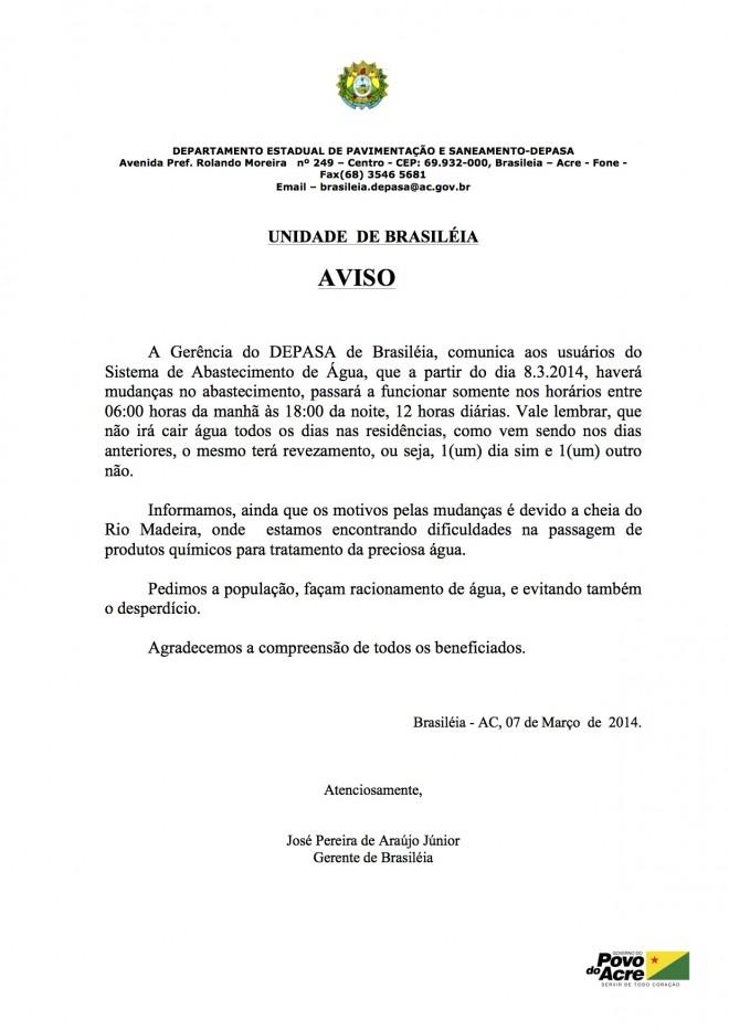 COMUNICADO URGENTE.DEPASA