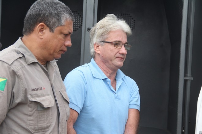 Chegada de Luis Carlos, principal acusado de ter matado Crisitiane Prudente a tiros e queimado o corpo - Foto: Alexandre Lima