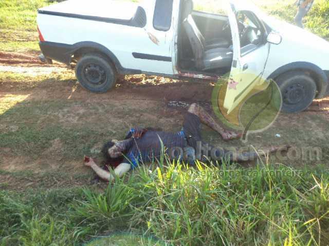 A vítima foi ferida dentro do carro por cerca de três vezes no pescoço