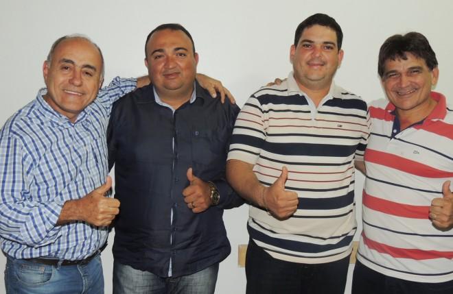 Tião Bocalom (e), Joaquim Lira e Emerson Leão no centro e Henrique Afonso à direita - Foto: Assessoria
