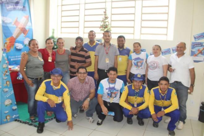 Funcionários do Correios de Brasiléia aderiram à campanha - Foto: Alexandre Lima