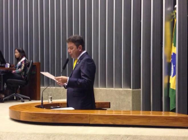 Gladson faz discurso de despedida da Câmara Federal/Foto: Assessoria