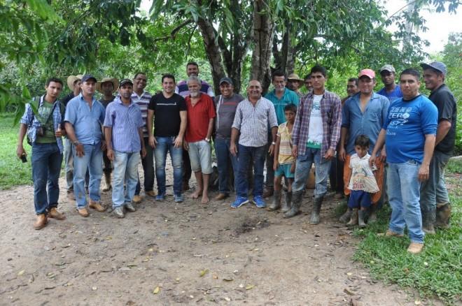 Comitiva durante encontro na zona rural de Brasiléia neste final de semana - Foto: Assessoria