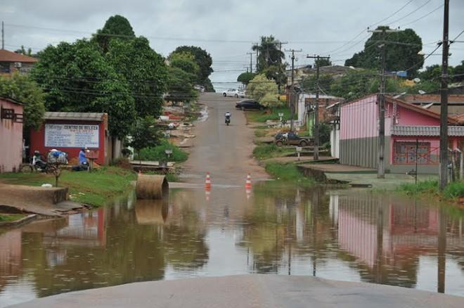 Famílias de oito bairros de Porto Velho já foram atingidas pelas águas do Madeira/Foto: ContilNet Notícias