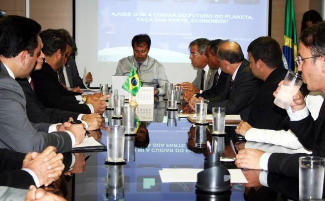 Ministro durante reunião com bancada acreana/Foto: Reprodução Facebook