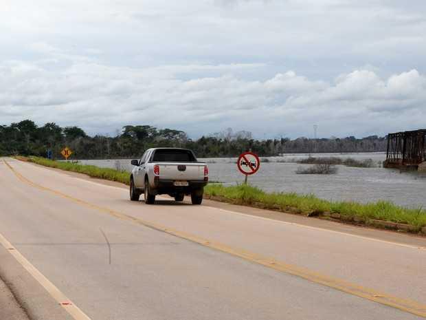 BR-364 está com tráfego normal entre Acre e Rondônia (Foto: Sérgio Vale/ Secom)