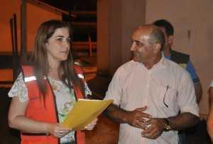 Vice-governadora Nazaré Lambert e prefeito de Brasiléia, Everaldo Gomes