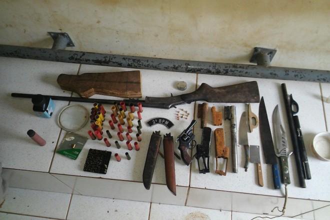 O 2º Batalhão da PM, responsável pelo Segundo Distrito, foi a unidade que fez a maior quantidade de apreensões; foram 60 armas. (Foto: Assessoria PMAC)