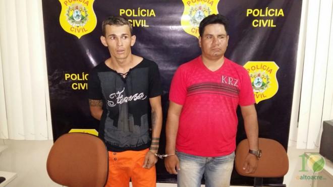 Rafael 'Tarrafinha' (esquerda), foi detido com o boliviano Cristian (camisa vermelha), acusado de ser o fornecedor da droga.