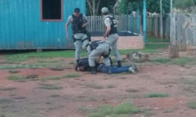 Policiais agem rápido e prendem bandidos/Foto: Cedida