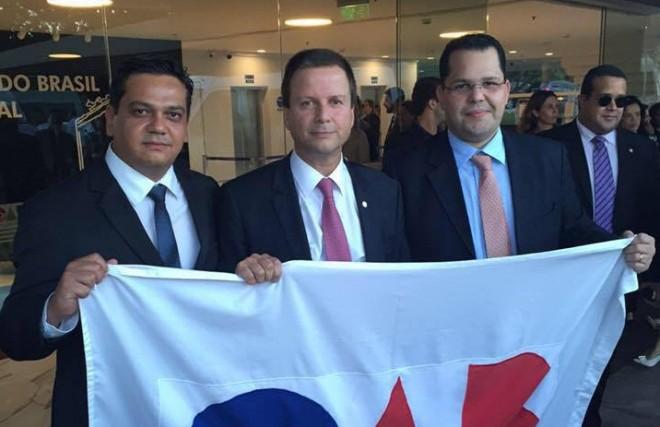 Erick ao lado do presidente da OAB/AC, Marcos Vinicius/Foto: Arquivo pessoal