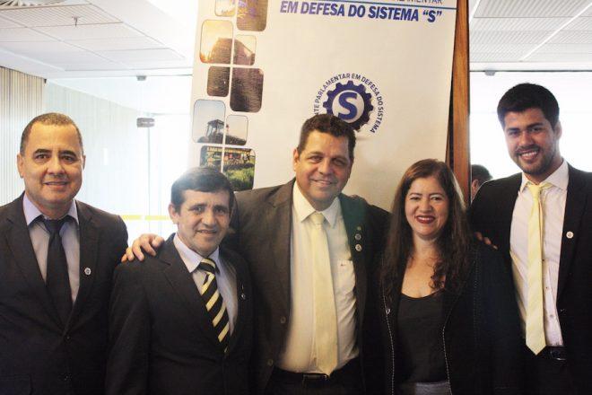 Rocha, Adelaide, Valdemir, Francineudo e Francisco