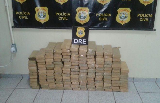Droga estava escondida em carga de arroz