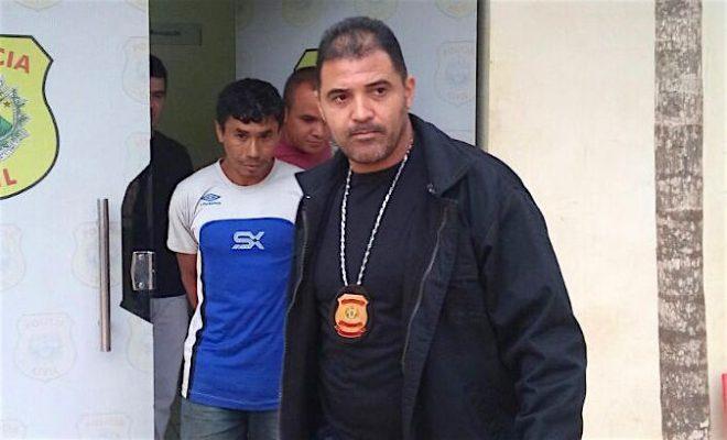 Agentes civis de Xapuri conduziram o acusado...