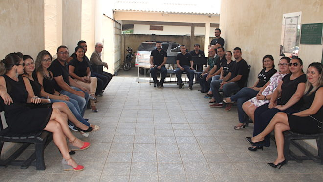 Servidores do Judiciário de Brasiléia também aderiram à greve - Foto: Alexandre Lima