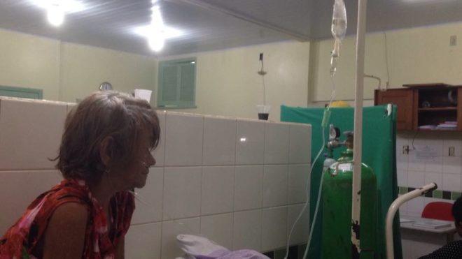 a sogra da aposentada, Maria Fernandes Vieira, está entre a vida e a morte - Foto/cedida