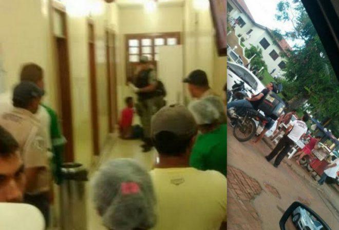 O acusado tentou se esconder dentro da maternidade Bárbara Heliodora/Foto: Reprodução