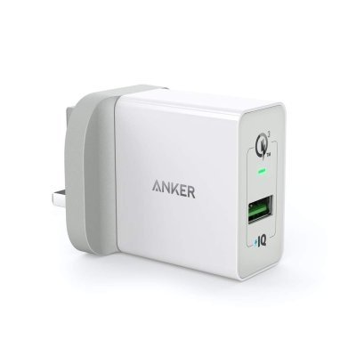 Anker 18W PowerPort+ 1 with Quick Charge 3.0 – White