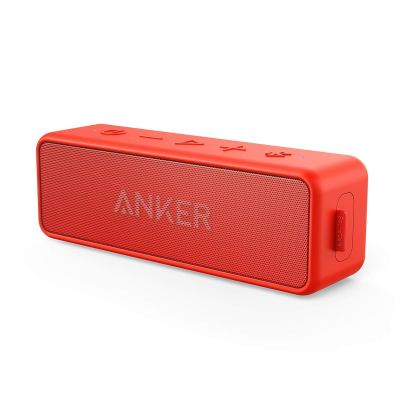 Anker SoundCore 2 Portable Bluetooth Speaker 24-Hour Playtime, IPX7 Water Resistance – Red