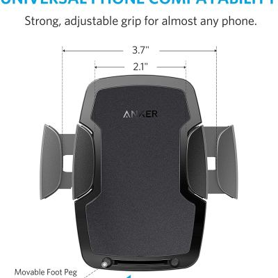 Anker Dashboard Cell Phone Mount, Windshield Car Mount, Phone Holder