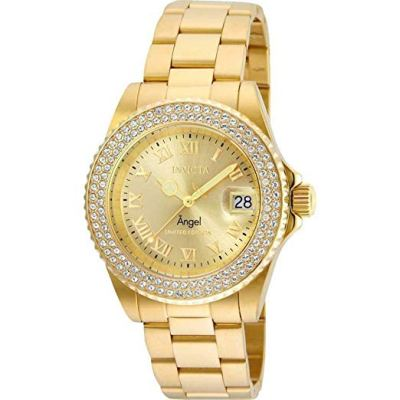 Invicta Cruiseline Women's Angel Limited Edition 40mm Stainless Steel Gold Tone Crystal Accented Swiss Quartz Watch – 20687
