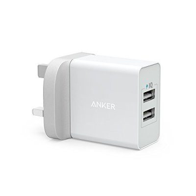Anker 24W 2 Port USB Wall Charger – White
