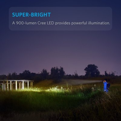 Anker Super Bright Tactical Flashlight, Bolder LC90 Rechargeable IP65 Water-Resistant