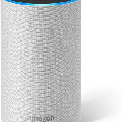Amazon Echo (2nd Generation) – Smart speaker with Alexa – Sandstone Fabric